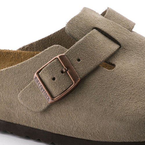 Unisex Boston Soft Footbed Taupe Suede