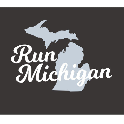 Men's Run Michigan Tri-Blend Crew Long Sleeve Tee - Vintage Black