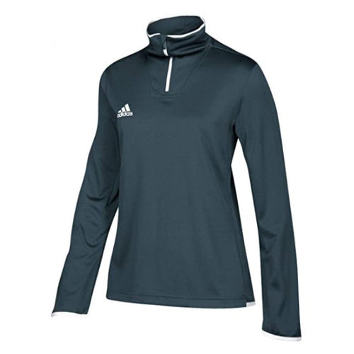 Women's Iconic Long Sleeve Quarter Zip Top - Onyx/White