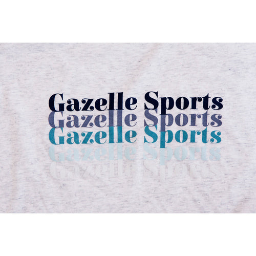 Women's Gazelle Sports Retro Fade Triblend Tee - Heather White