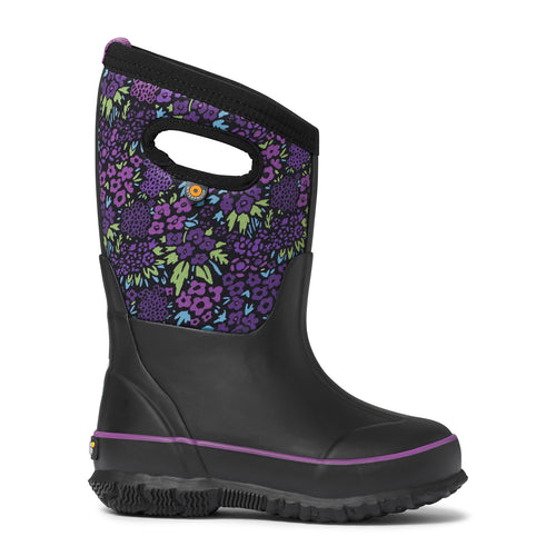 Kids Classic Northwest Garden Insulated Rain Boots - Black Multi