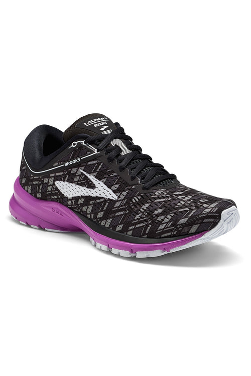 Women's Launch 5 Running Shoe - Black/Purple/Print