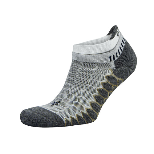 Unisex Silver No Show Socks - White/Grey