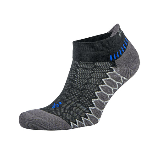 Silver No Show Socks - Black/Carbon