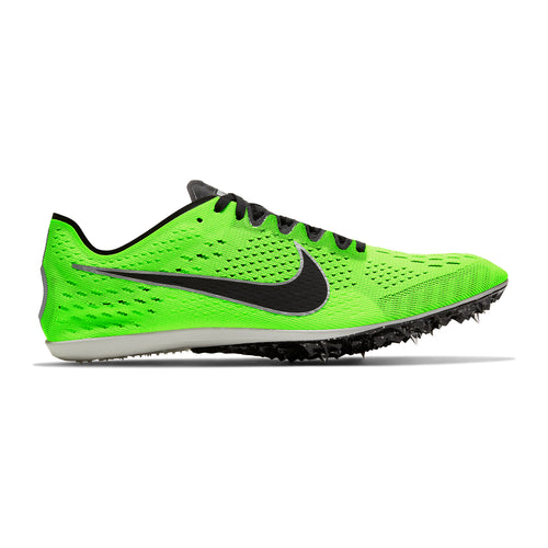 Unisex Zoom Victory 3 Distance Spike - Electric Green / Black / Pure Platinum