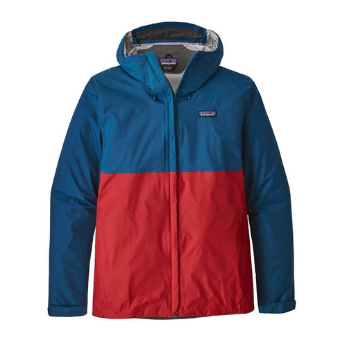 Men's Torrentshell Jacket - Big Sur Blue w/Fire Red