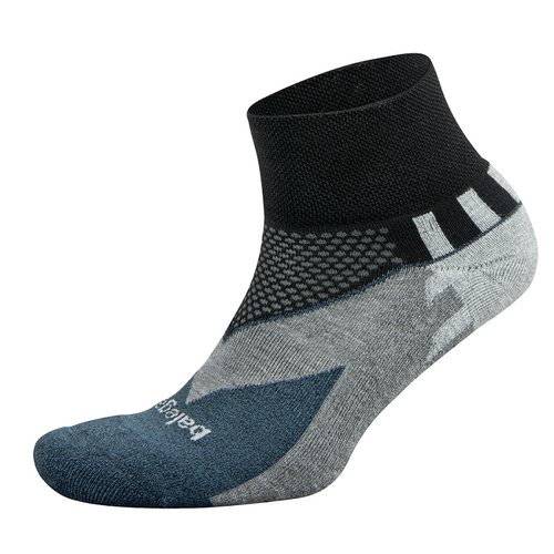 Unisex Enduro Quarter Sock - Black/Charcoal