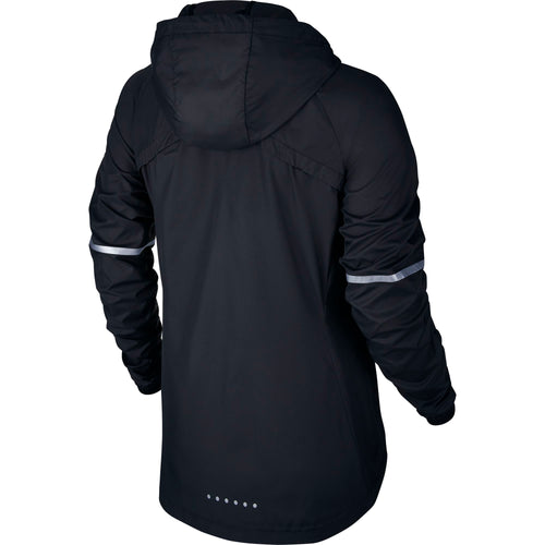 Women's Shield Hooded Runing Jacket - Black