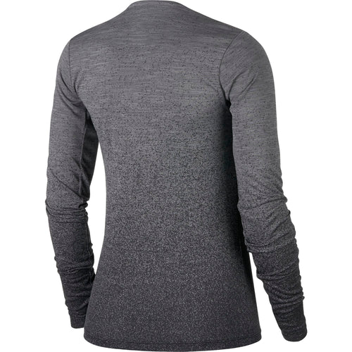 Women's Nike Medalist Long Sleeve Running Top - Gunsmoke / Black