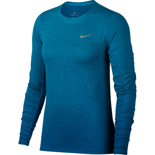 Women's Nike Medalist Long Sleeve Running Top - Hyper Jade / Green Abyss