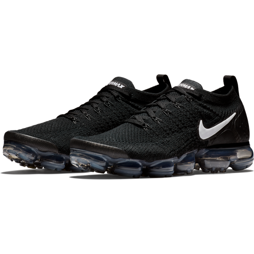 Men's Air VaporMax Flyknit 2 Running Shoe - Black/White/Dark Grey/Metallic Silver