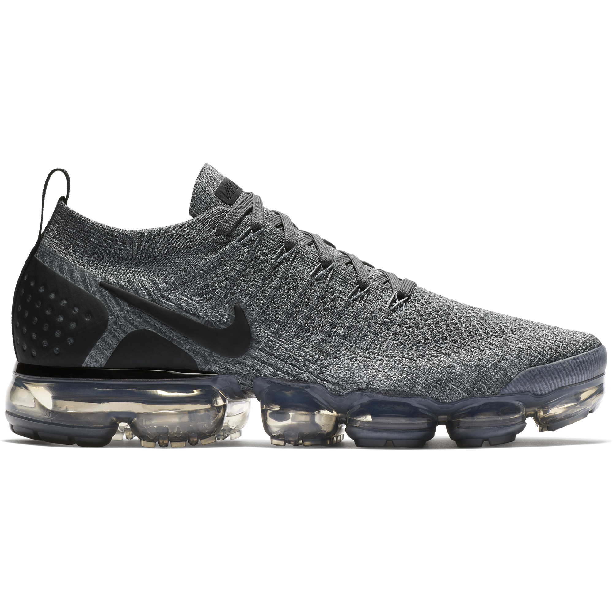 9272a4fa952 ... Men s Air VaporMax Flyknit 2 Running Shoe - Dark Grey Black Wolf Grey   ...