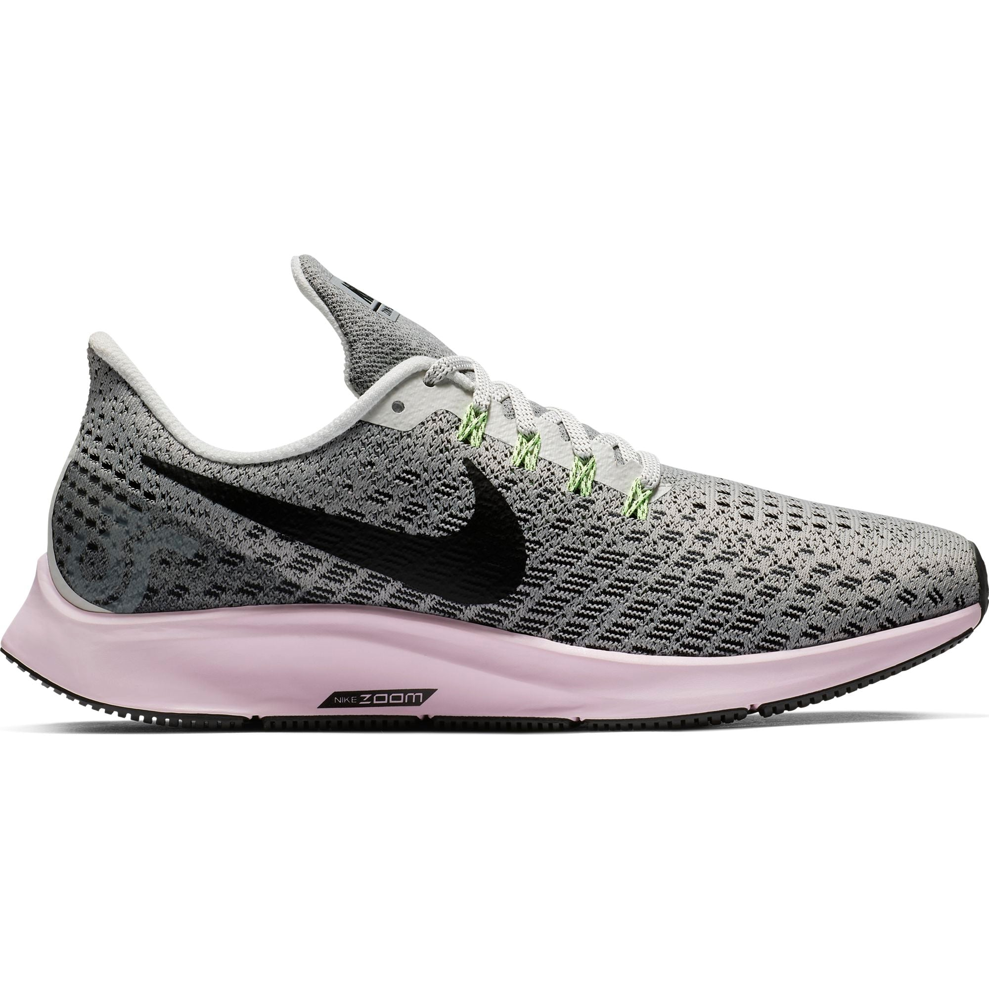 4a410953a2cb5 Women s Air Zoom Pegasus 35 Running Shoes - Vast Grey Black Pink Foam  – Gazelle  Sports