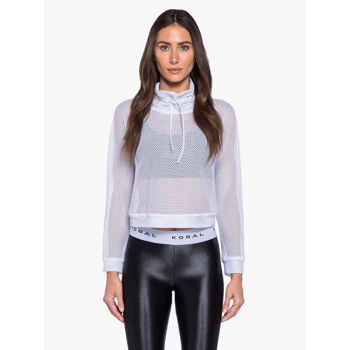 Women's Pump Open Mesh Pullover - White