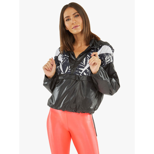 Women's Borde Zephyr Anorak Windbreaker - Black/Areca