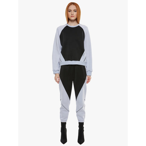 Women's Pick-Up Matte Sweatshirt-Serein/Black