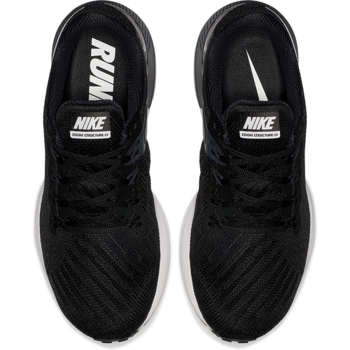 Women's Air Zoom Structure 22 Running Shoe (D-Wide) - Black/White/Gridiron