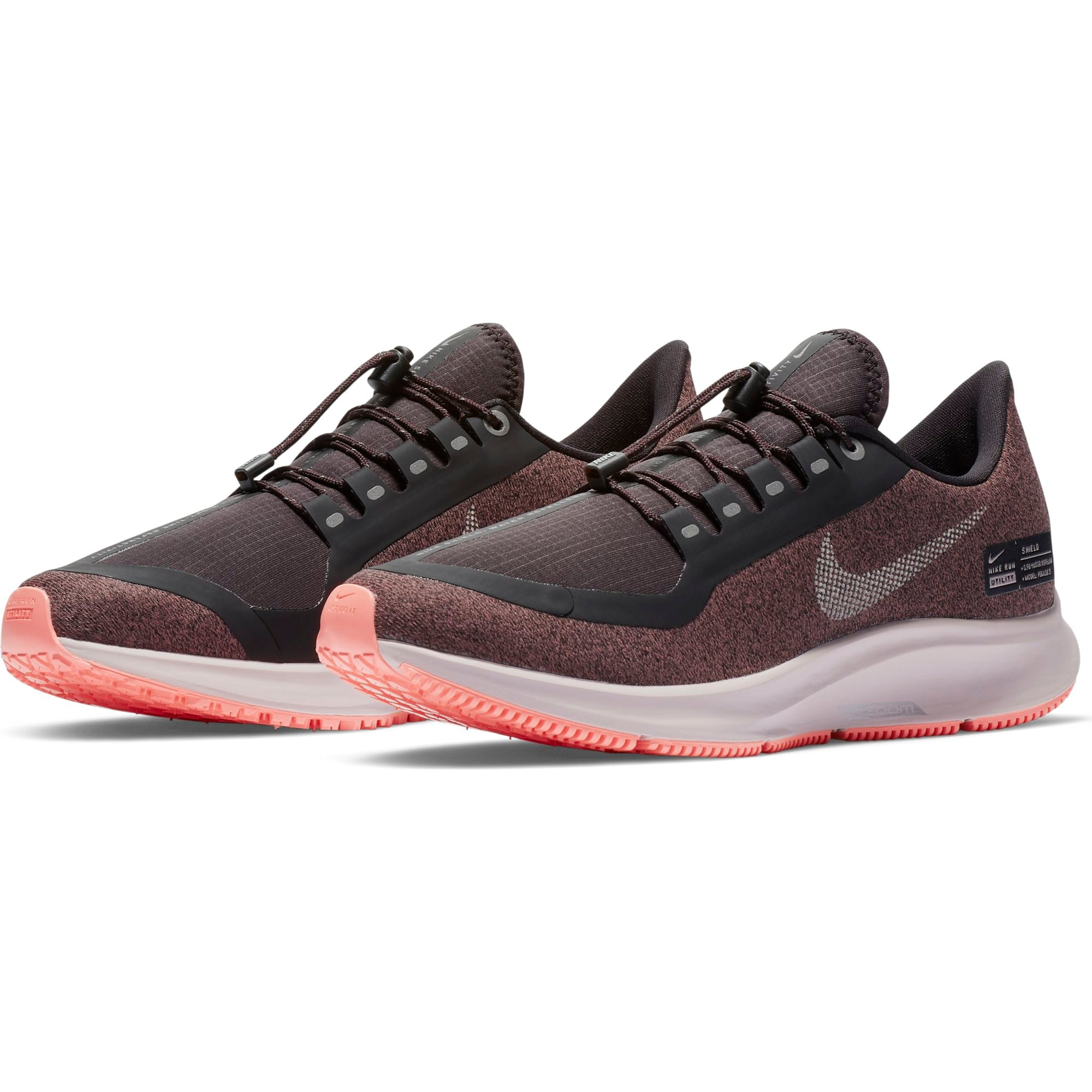 53233bcb8bb0 ... Women s Air Zoom Pegasus 35 Shield Running Shoe - Oil Grey Metallic  Silver Smokey ...