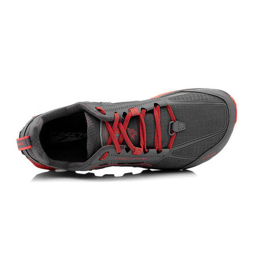 Men's Lone Peak 4.0 Trail Shoes - Grey/Orange