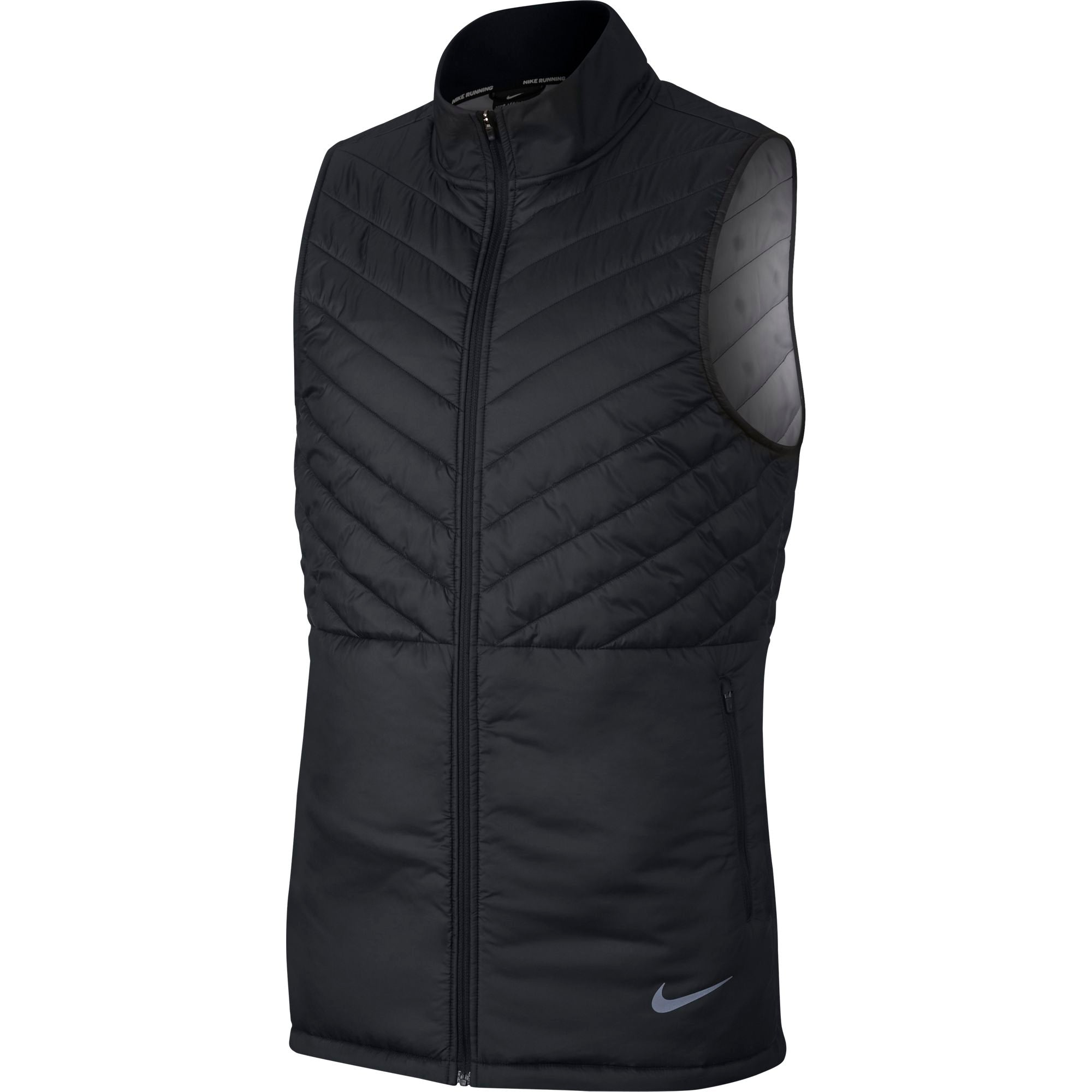 60f96aeb9c70 Men s Nike AeroLayer Running Vest - Black   Black   Atmosphere Grey –  Gazelle Sports