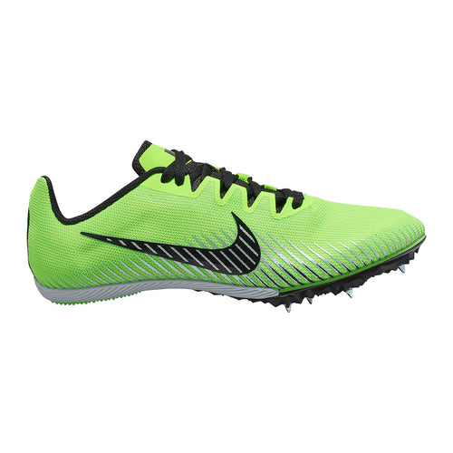 Unisex Zoom Rival M 9 Track Spike - Electric Green/Black/Metallic Silver
