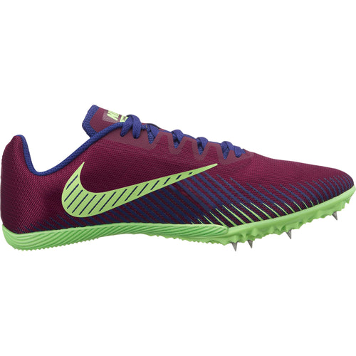 Men's Zoom Rival M 9 Track Spike - Bordeaux/Regency Purple/Lime Blast