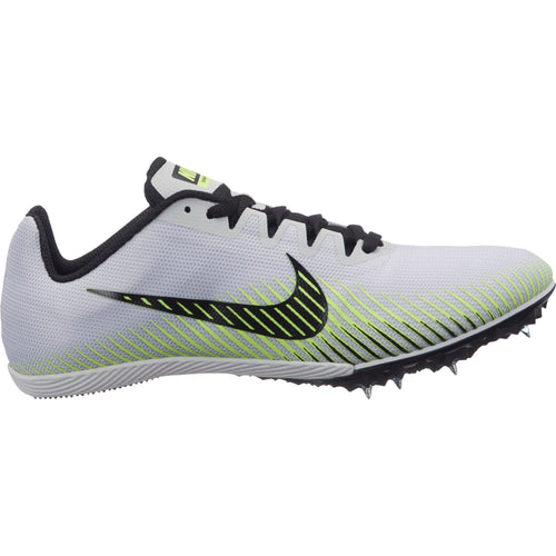 Women's Zoom Rival M 9 Track Spike - Pure Platinum/Black/Volt Glow