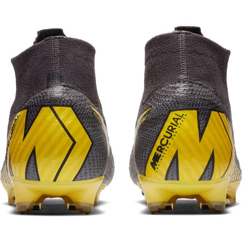 Superfly 6 Elite Firm Ground Soccer Cleat - Thunder Grey/Black/Dark Grey/Opti Yellow