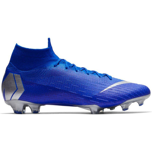 Men's Superfly 6 Elite FG Soccer Cleat - Racer Blue/Metallic Silver/Black/Volt