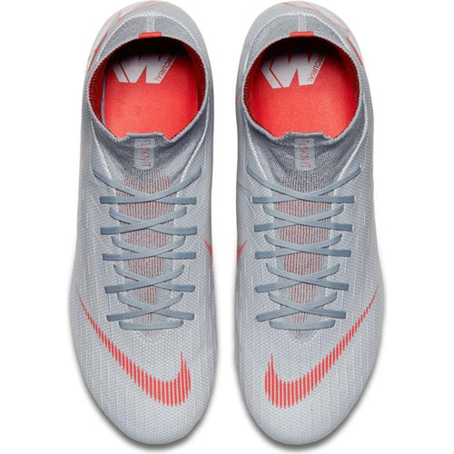 Men's Superfly 6 Pro FG Soccer Cleat - Wolf Grey/Pure Platinum/Metallic Silver/Light Crimson