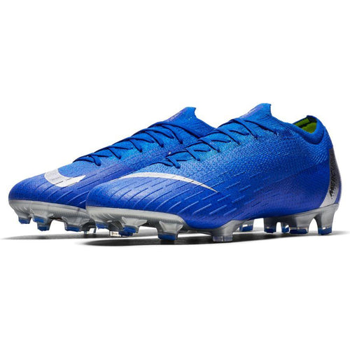 Vapor 12 Elite Firm Ground Soccer Cleat - Racer Blue/Silver