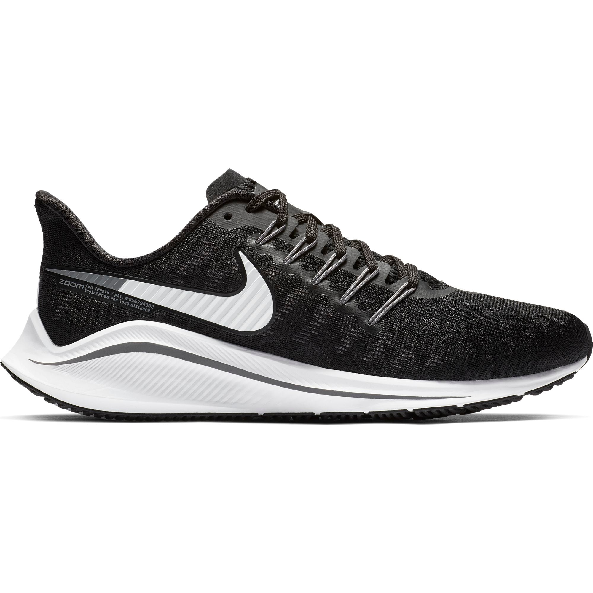 cffbc8b11b97f Women s Air Zoom Vomero 14 Running Shoe (D-Wide) - Black White Thunder –  Gazelle Sports