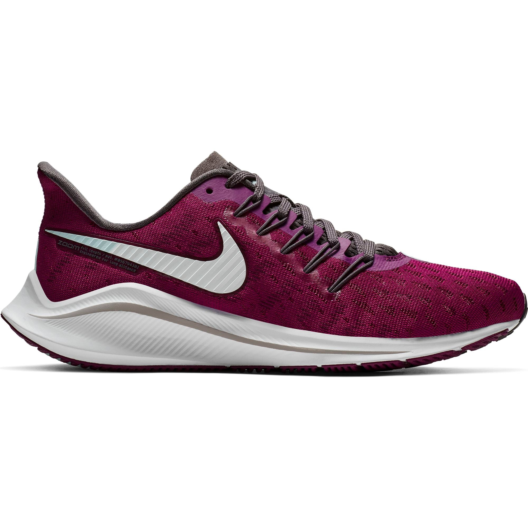 Women s Air Zoom Vomero 14 Running Shoe - True Berry White Thunder Gre –  Gazelle Sports 7068a050d
