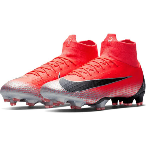Men's Superfly 6 Pro CR7 FG Soccer Cleat - Bright Crimson/Chrome/Dark Grey/Black