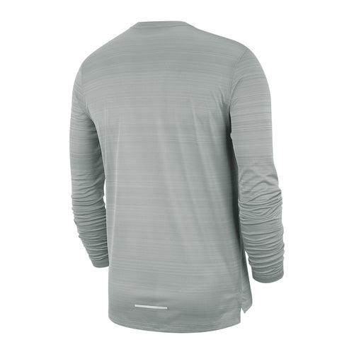 Men's Dry Miler Long Sleeve Top - Smoke Grey / Heather / Reflective Silver