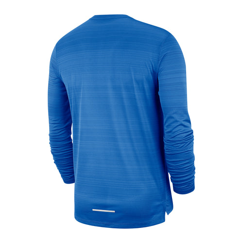 Men's Dry Miler Long Sleeve Top - Pacific Blue / Heather / Reflective Silver
