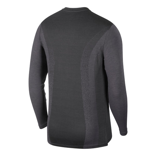 Men's TechKnit Ultra Long Sleeve Top - Black / Thunder Grey / Reflective Silver