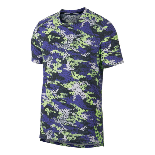 Men's Nike Breathe Rise 365 Short-Sleeve Running Top - Barely Volt/Black