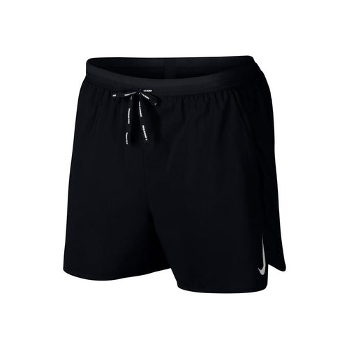 "Men's Flex Stride 5"" 2-in-1 Running Shorts - Black/Black/Metallic Silver"