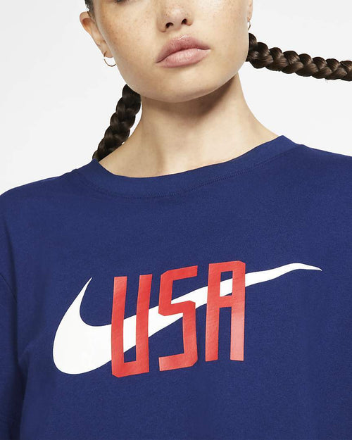 Women's USA Nike Squad Tee - Blue Void
