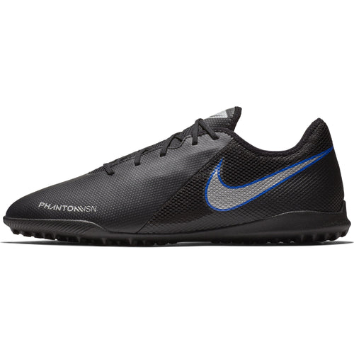 Men's Phantom VSN Academy TF Soccer Cleat - Black/Metallic Silver/Racer Blue