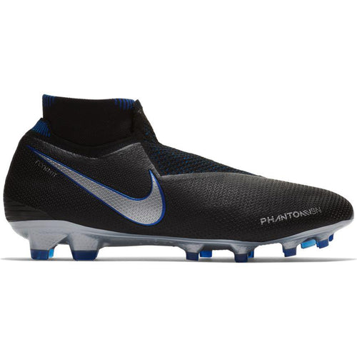 Phantom Vision Elite Dynamic Fit Firm Ground Soccer Cleat - Racer Blue/Metallic Silver/Black