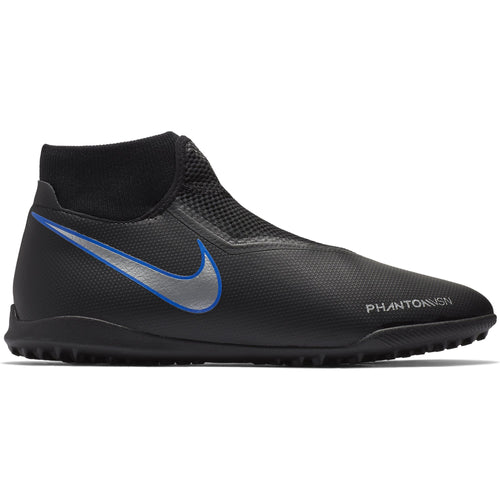 Phantom VSN Academy Dynamic Fit Turf Soccer Cleat - Black/Metallic Silver/Racer Blue