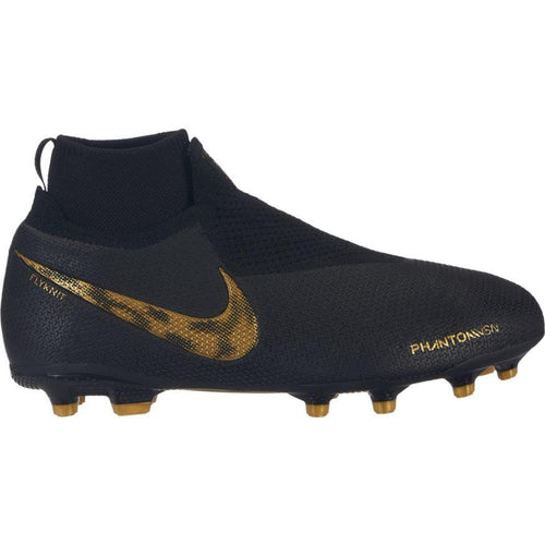 JR Phantom VSN Elite DF Soccer Cleat - Black/Metallic Vivid Gold