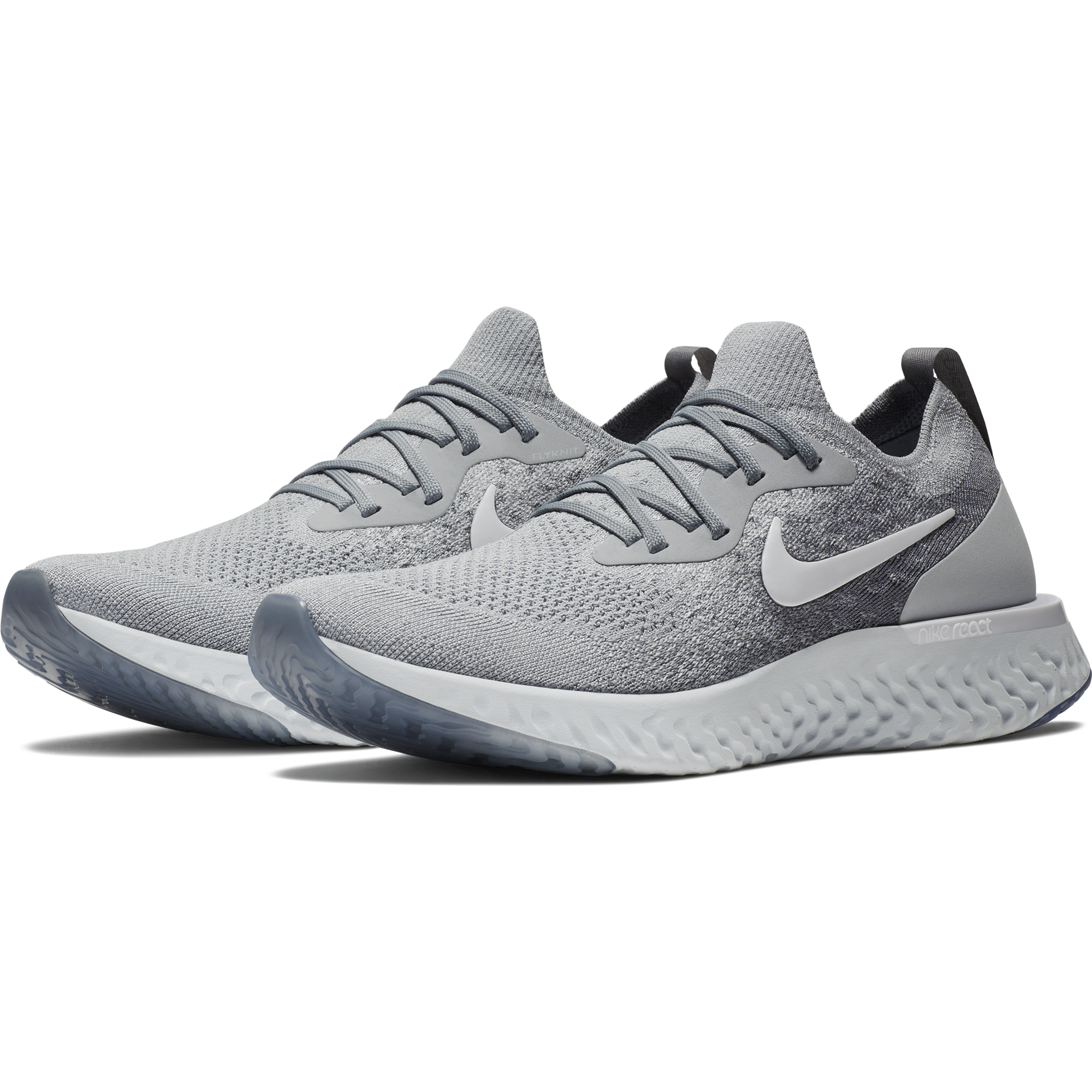 eb9e23ff2001 ... Men s Epic React Flyknit Running Shoe - Wolf Grey White Cool Grey Pure  ...