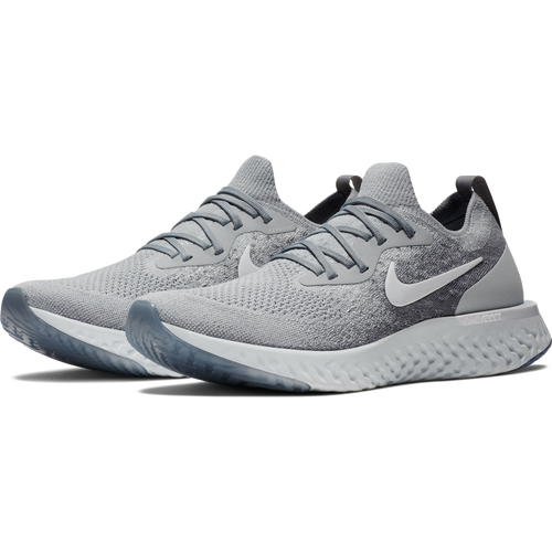 Men's Epic React Flyknit Running Shoe - Wolf Grey/White/Cool Grey/Pure Platinum