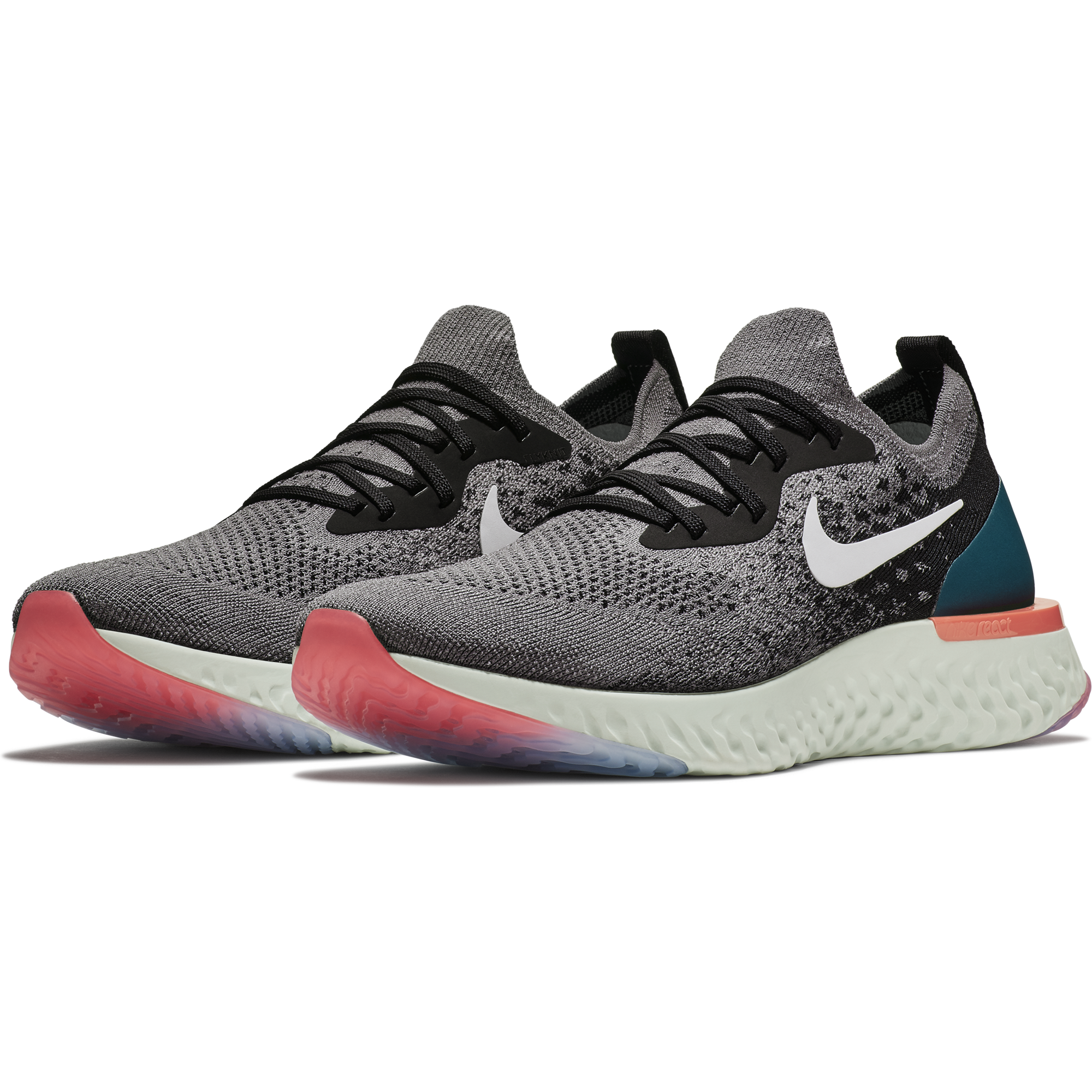ee03c8763ad5bc ... Men s Epic React Flyknit Running Shoe - Gunsmoke White Black Geode ...