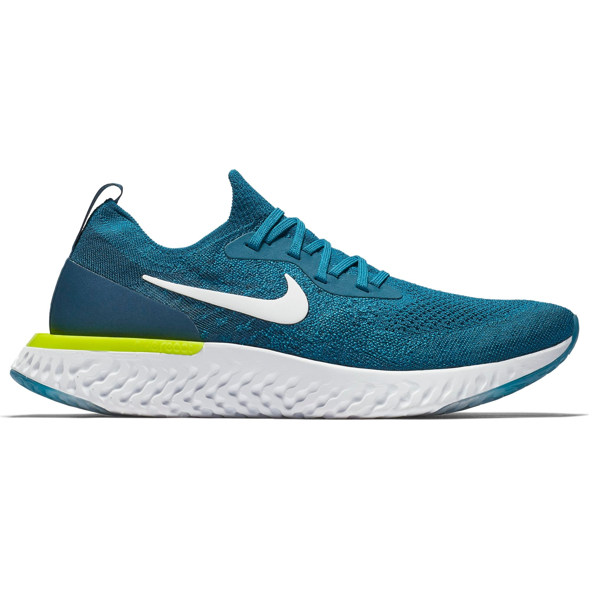 c801e91af0127 Men s Epic React Flyknit Running Shoe - Green Abyss White Blue Force V –  Gazelle Sports