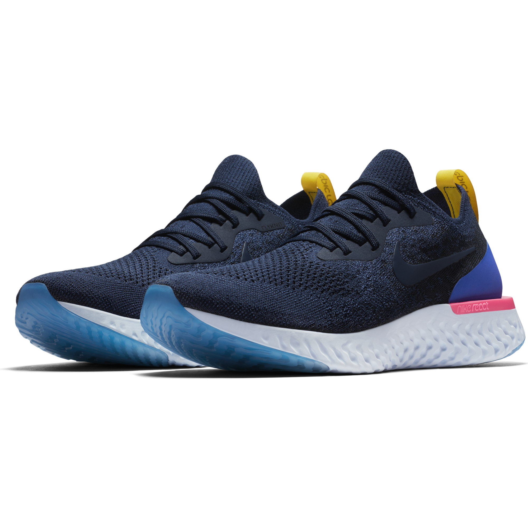 ... Blue Men s Epic React Flyknit Running Shoe - College Navy College Navy  Racer ... 5f4a984ca