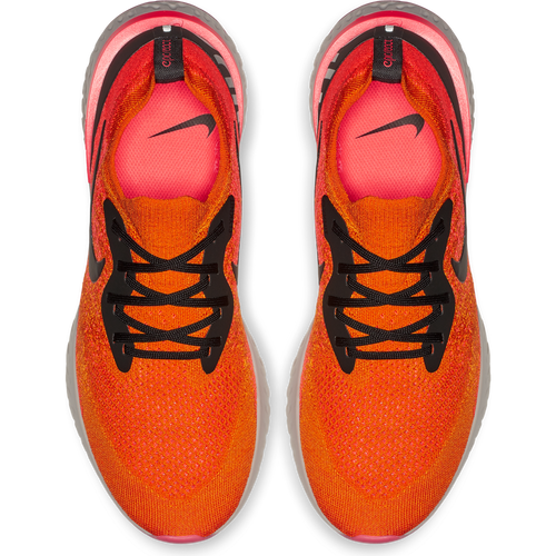 Men's Epic React Flyknit Running Shoe - Copper Flash/Black/Flash Crimson